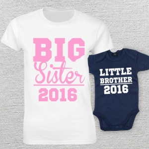 Big Sister Little Brother Matching T-Shirt and Vest